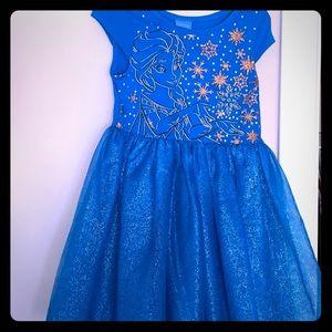 Elsa frozen glitter and glam girls tutu dress